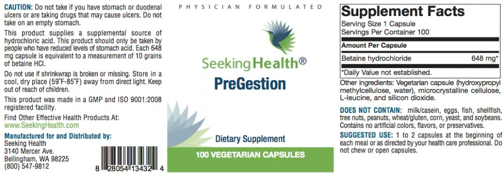 pregestion ingredients image