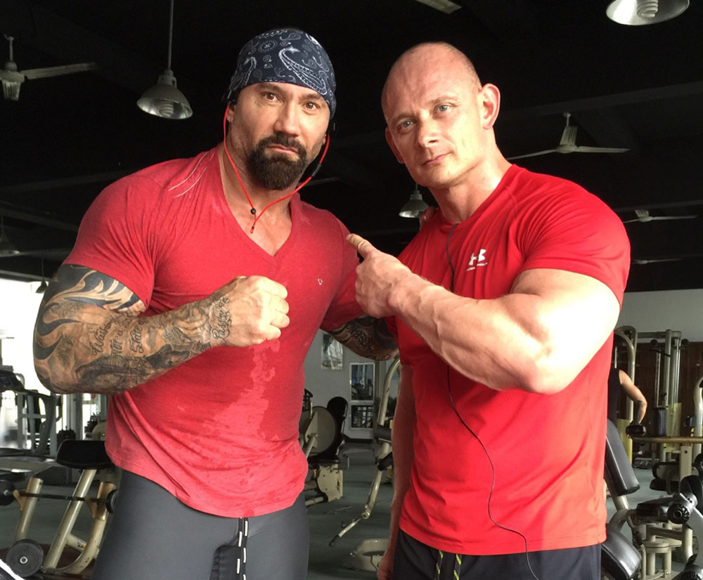 rob de groot training with dave bautista image