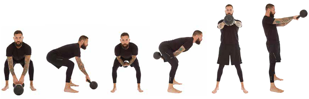 two hand kettlebell swing image