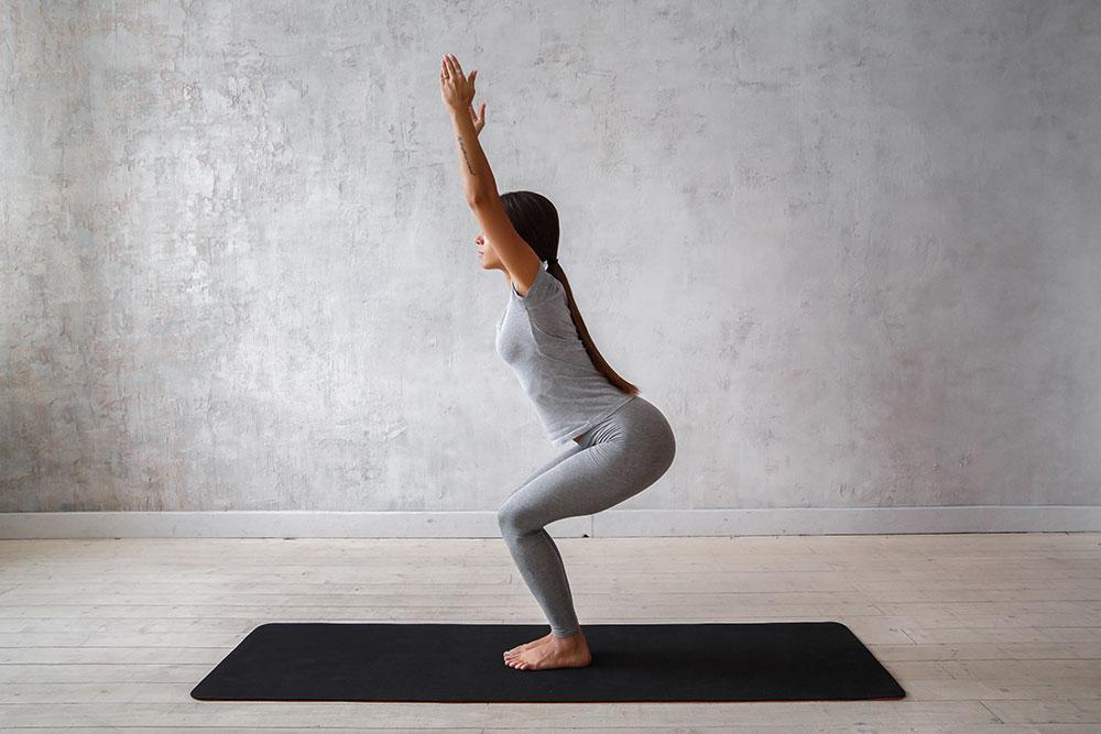 yoga utkatasana position image